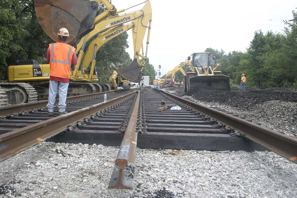 Main Line Track Construction Materials Construction Project
