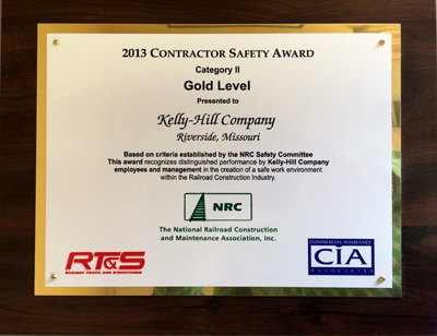 2013 National Railroad Construction Safety Award